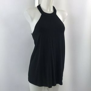 Tart Collection Black Halter Tank Size Small